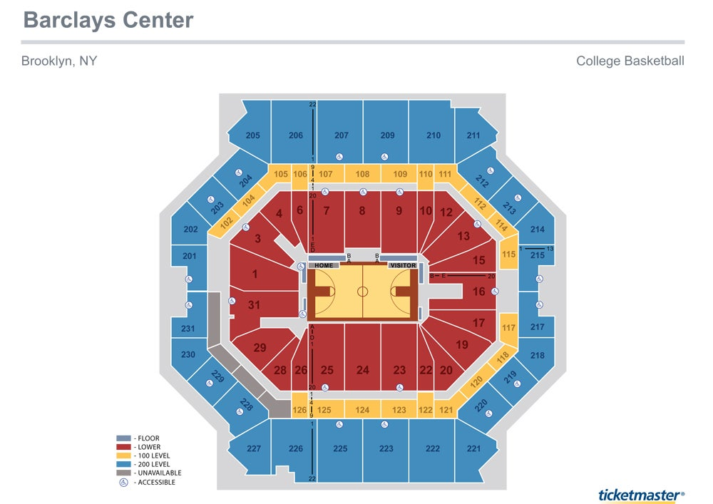 Seating Charts Barclays Center